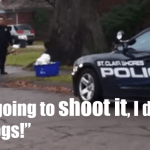 St Clair Shores Michigan Cop Caught on Dashcam Plotting to Kill Dog