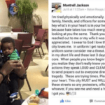 Slain officer's touching Facebook message days before death