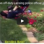 Video shows off-duty Lansing police officer pinning down teen and choking him, threatening his life