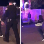 Coward Officer Pepper Sprays Boy, Kicks Him in the Back as He Wipes His Eyes
