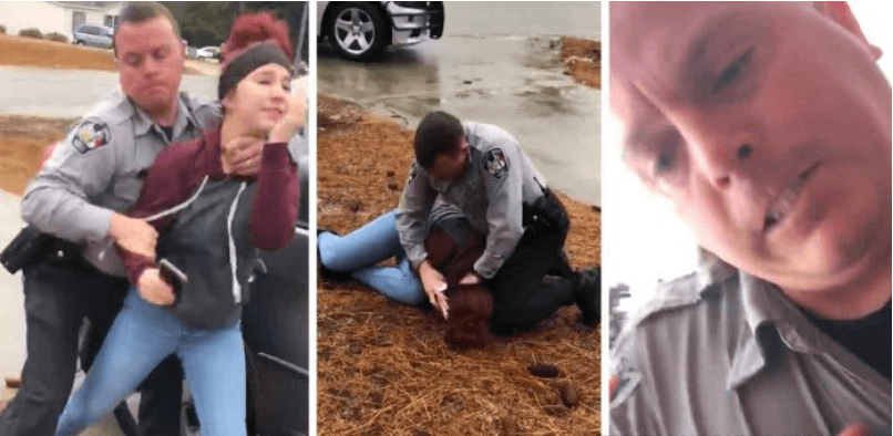 Cop Chokes and Body Slams